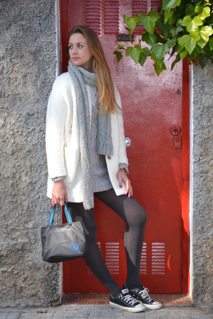 Abrigo blanco Ecoblogger Cristina Carrillo 5