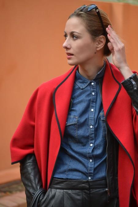 Ecobloggercristinacarrillo pantalones de cuero - capa roja 4
